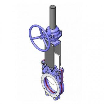 Задвижка шиберная CMO DN200 PN10 - UB-01-0200-PN10-R-E
