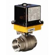 Шаровый кран, 2-ходовой, нерж.сталь AISI 316, Dn8-50, Pn63, BSP с электроприводом